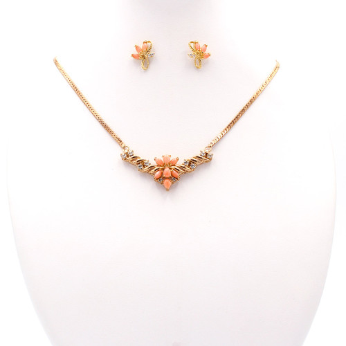 Coral & Rose Gold Twist Set