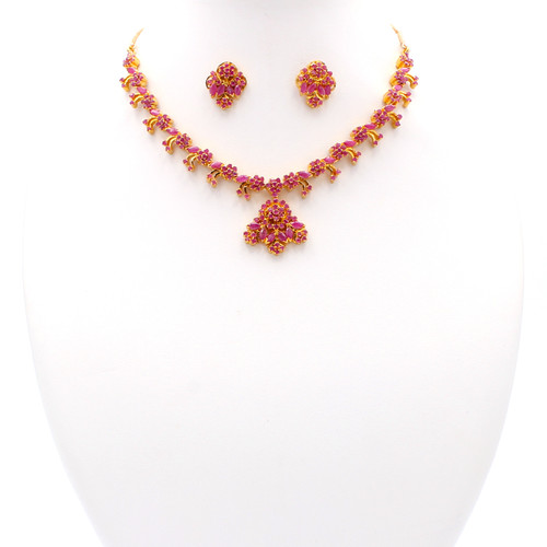 Delicacy Ruby & Gold Set