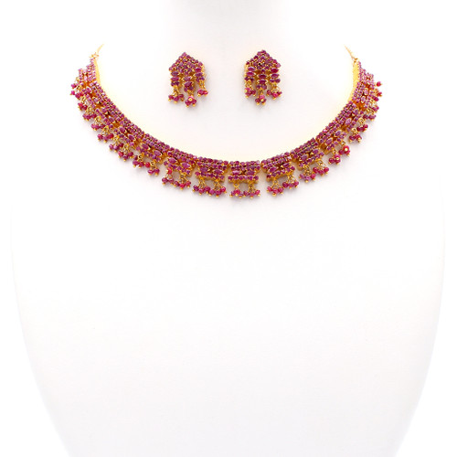 Celestial Ruby & Gold Set