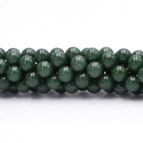 Center drilled natural round jade beads