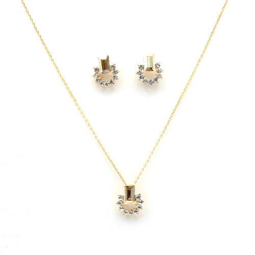 Golden Swarovski Crystal Set