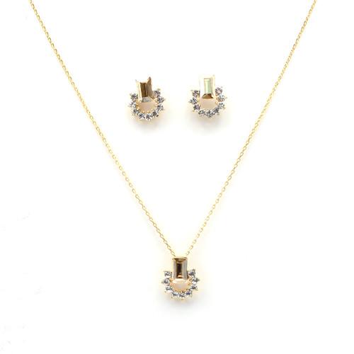 Golden Swarovski Crystal Set