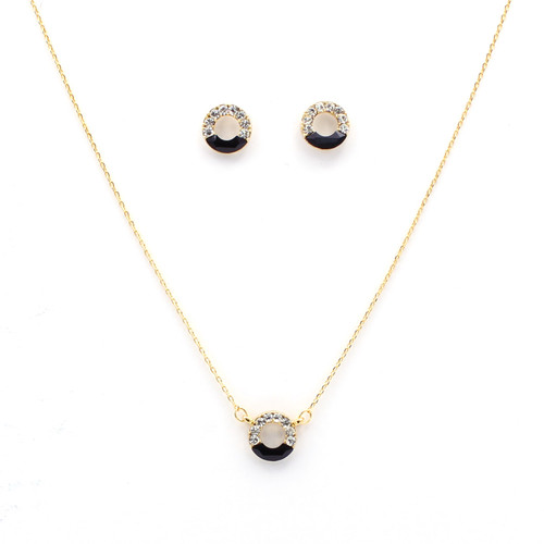 Black Accent Swarovksi Crystal Set