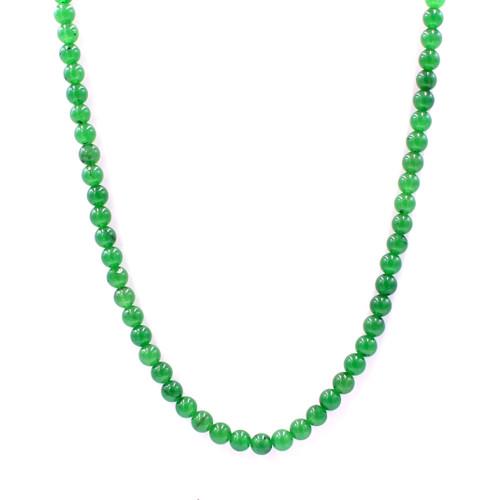 Green Taiwan jade necklace set