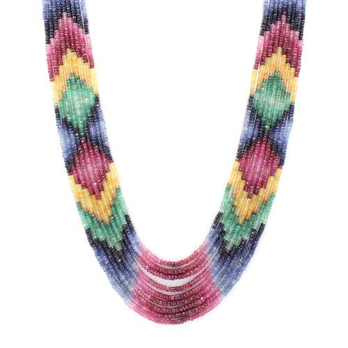 Colorful natural precious bead neckalce