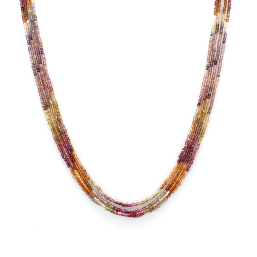 Four Layer Tundra Sapphire Necklace