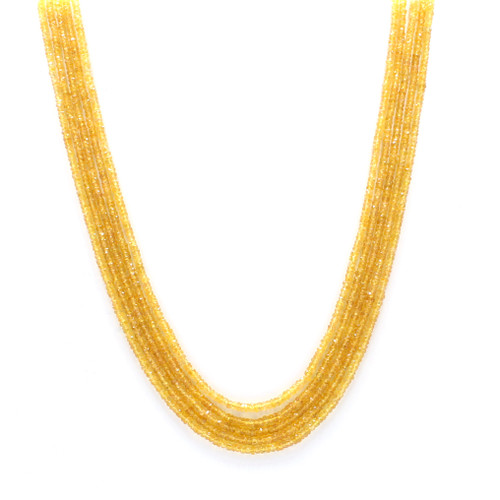 Five Layer Yellow Sapphire Necklace