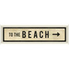 STREET SIGN WHITE - TO THE BEACH - RIGHT ARROW