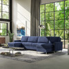 Queen Comfort Sleeper® with Double Chaise Sectional in Sunbrella® Spotlight Indigo Fabric