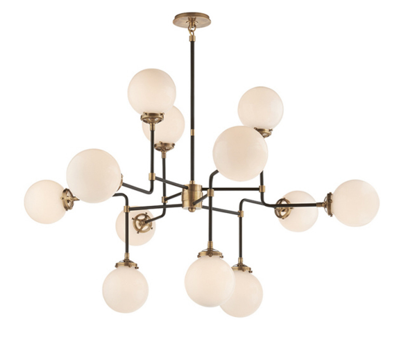 BISTRO CHANDELIER MEDIUM - ANTIQUE BRASS
