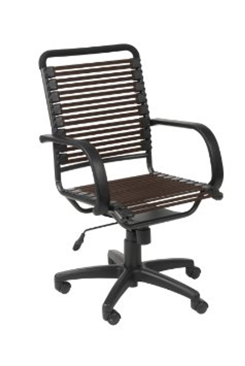 BUNGIE FLAT HIGH BACK OFFICE CHAIR - BROWN