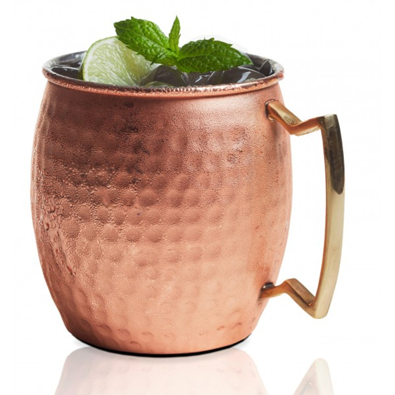 MOSCOW MULE MUG BELLY SHAPE - HAMMERED FINISH