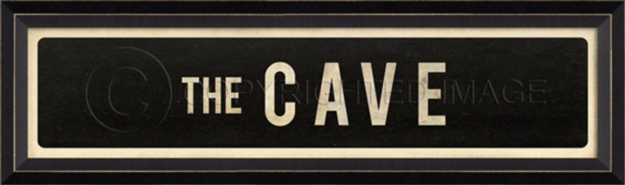 STREET SIGN BLACK - THE CAVE