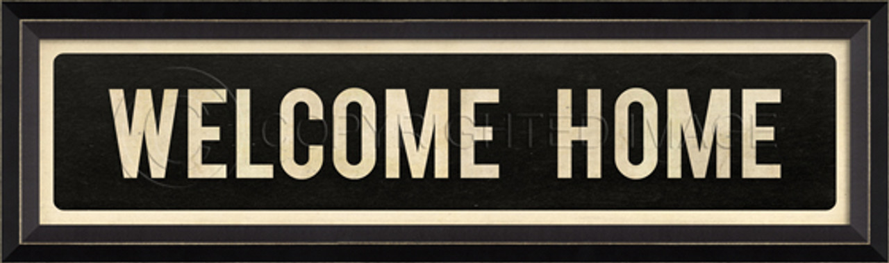 STREET SIGN BLACK - WELCOME HOME