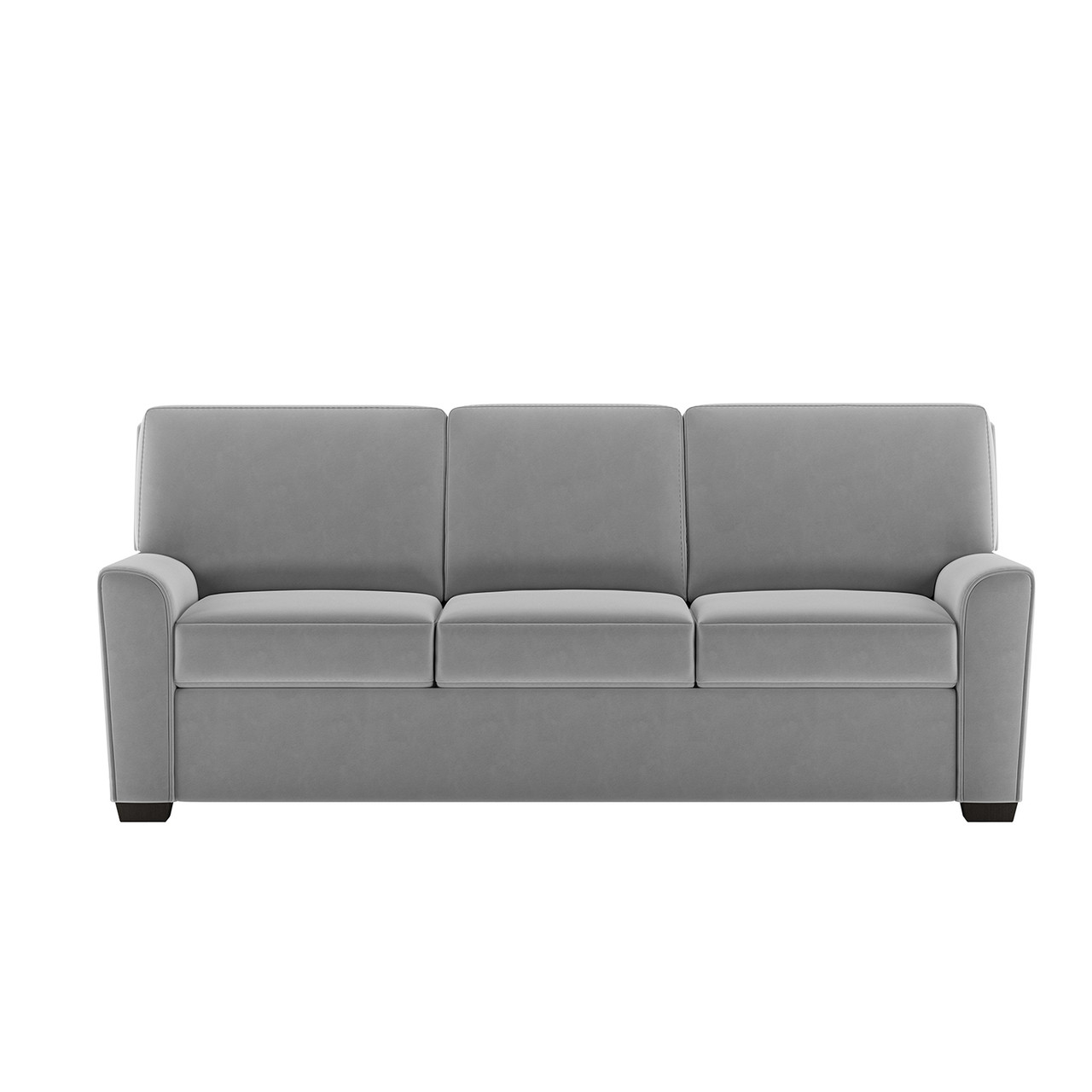 King Comfort Sleeper® in Suede Life Flint Fabric with Espresso Finish Legs