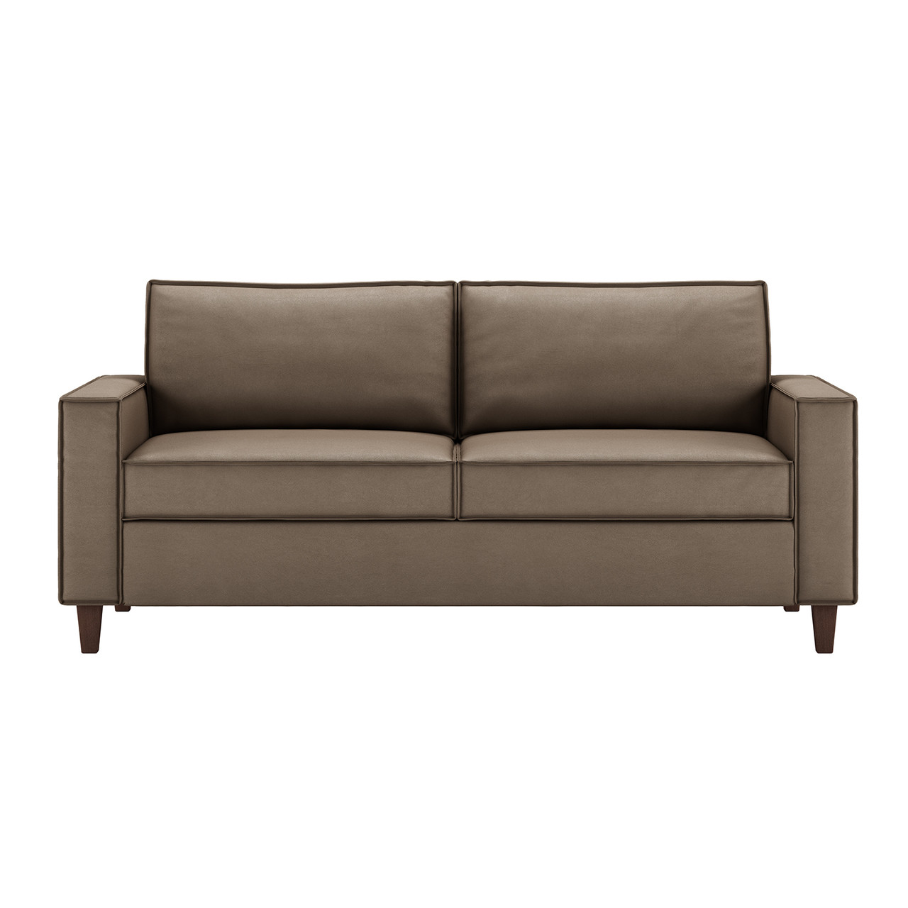Queen Plus Comfort Sleeper® in Dolce Chocolate Leather with Walnut Finish Legs