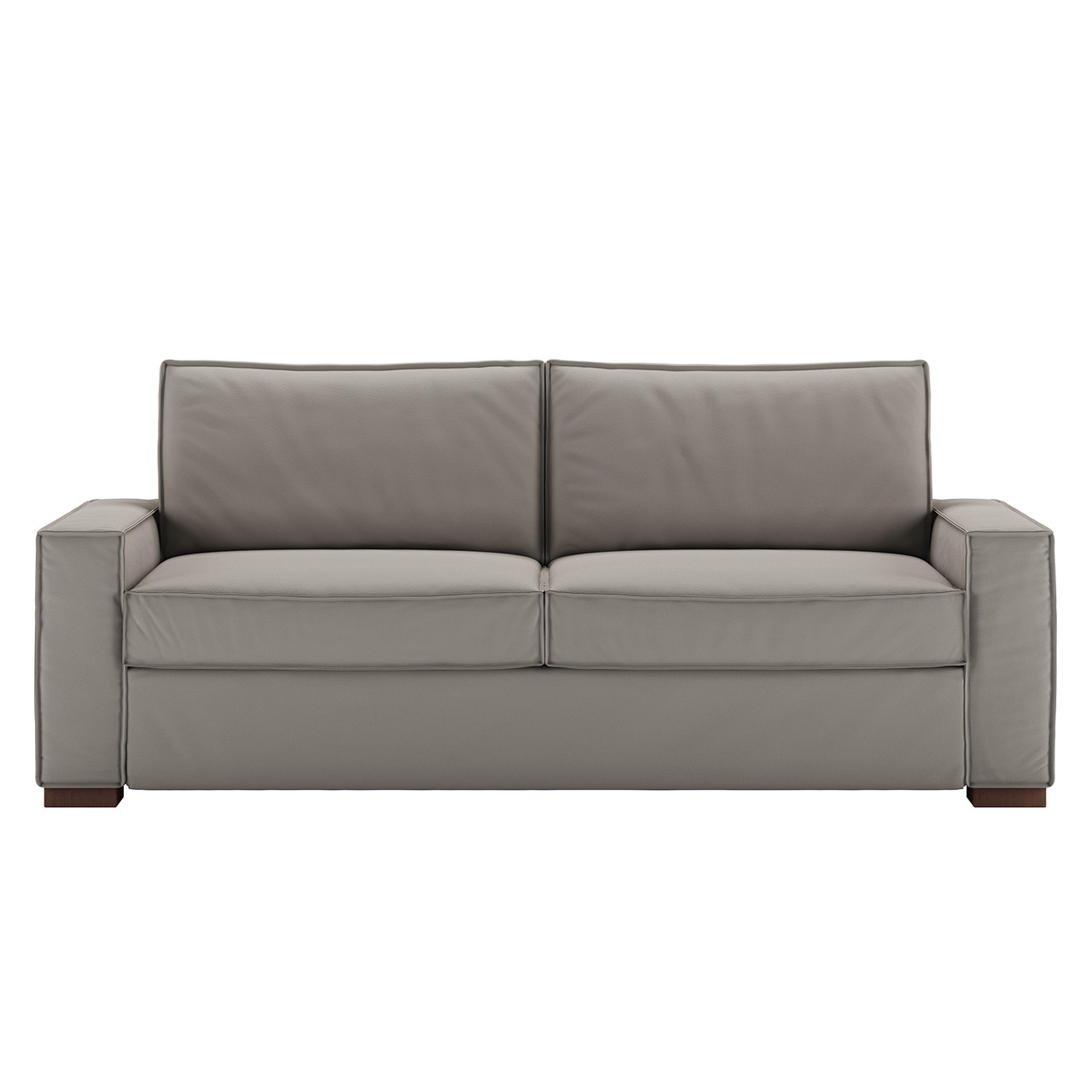 Queen Comfort Sleeper® in Bali Gravel Leather with Acorn Finish Legs