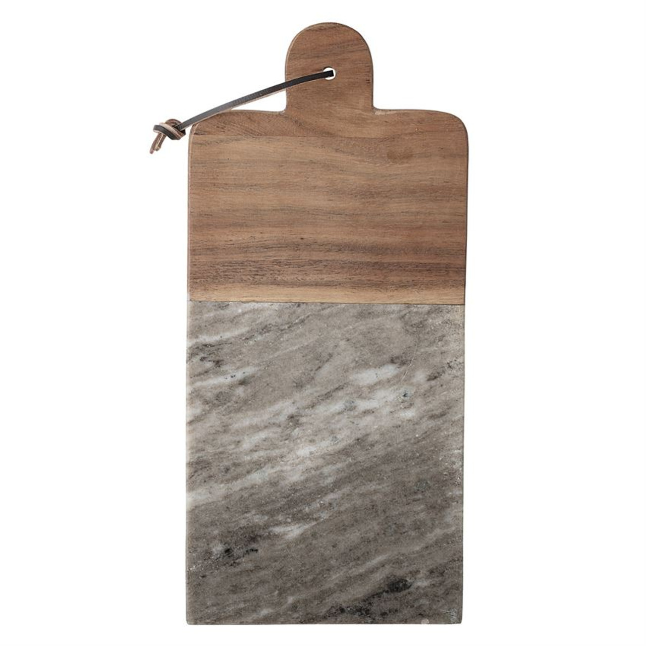 MARBLE & ACACIA WOOD CUTTING BOARD WITH CANAPE KNIFE