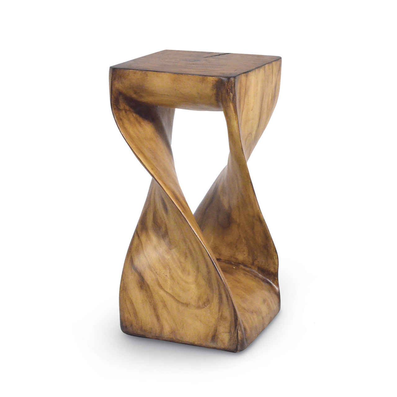 FAUX WOOD Z TABLE STOOL