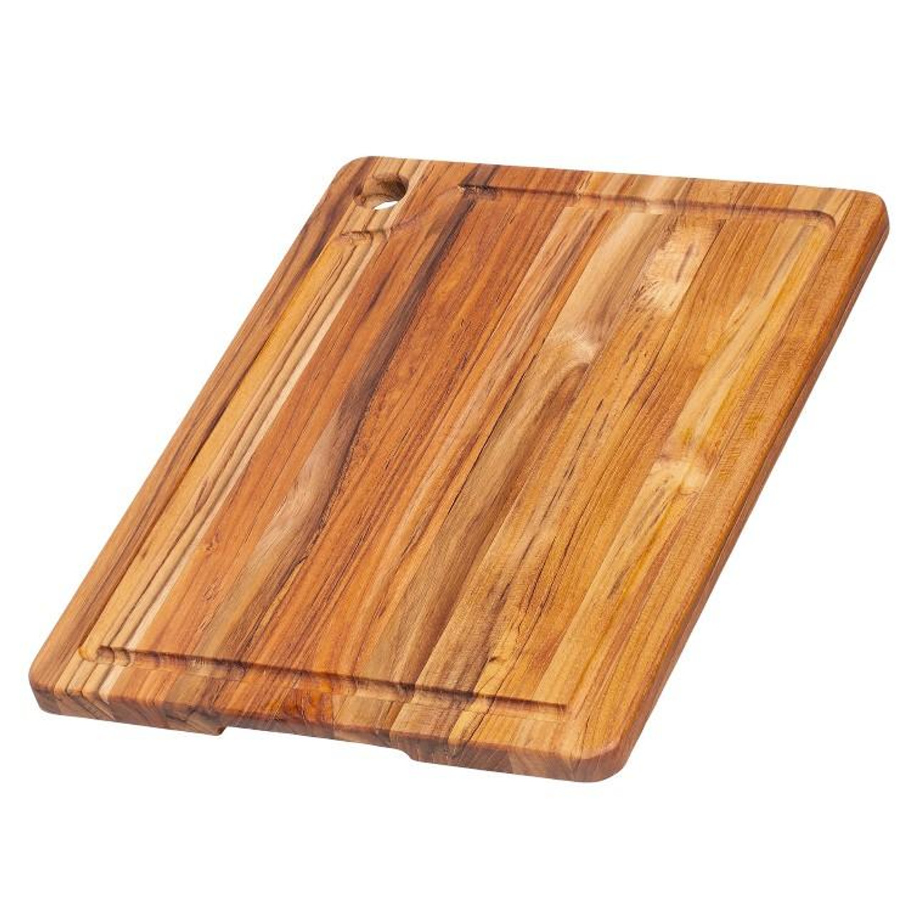 TEAKHAUS CUTTING BOARD CORNER HOLE JUICE GROOVE 16x12