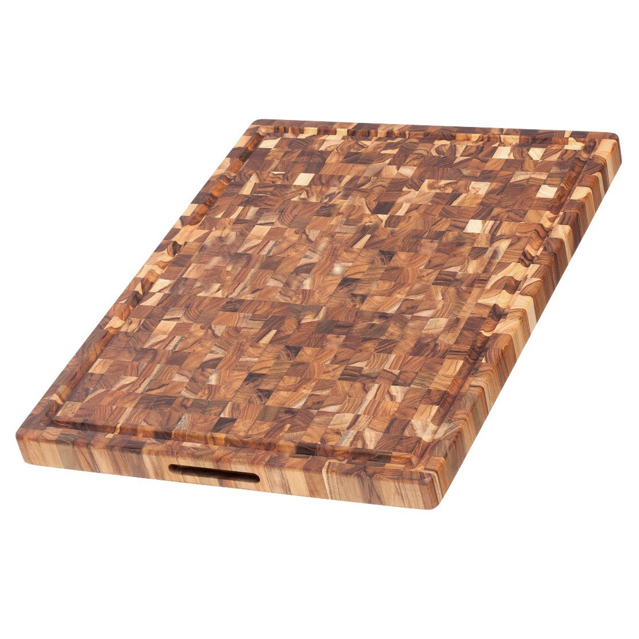 TEAKHAUS END GRAIN BUTCHER BLOCK WITH CANAL 24x18