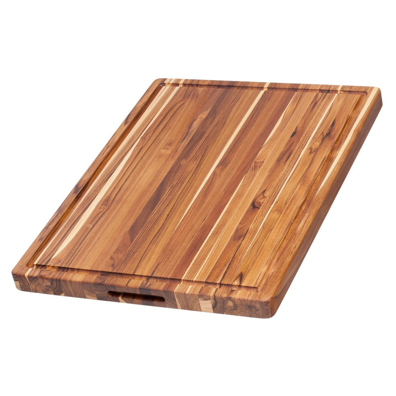 TEAKHAUS RECTANGLE BOARD W/ GRIP AND JUICE CANAL 20X15