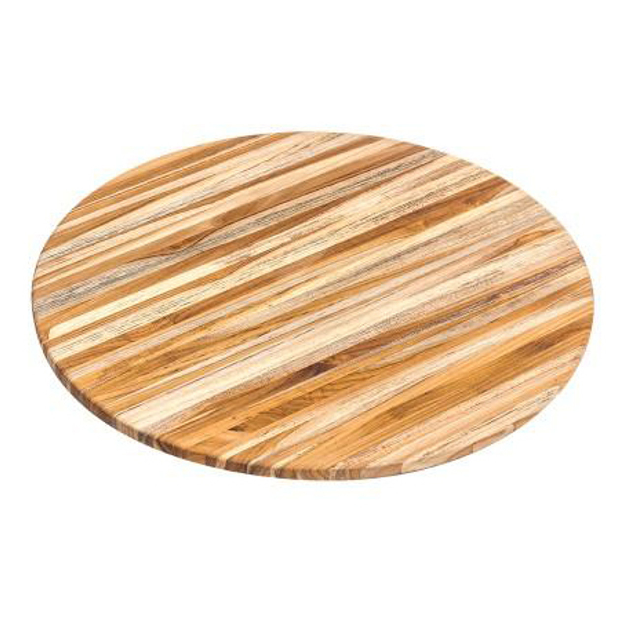 TEAKHAUS ROUND EDGE GRAIN SERVING BOARD 18X18