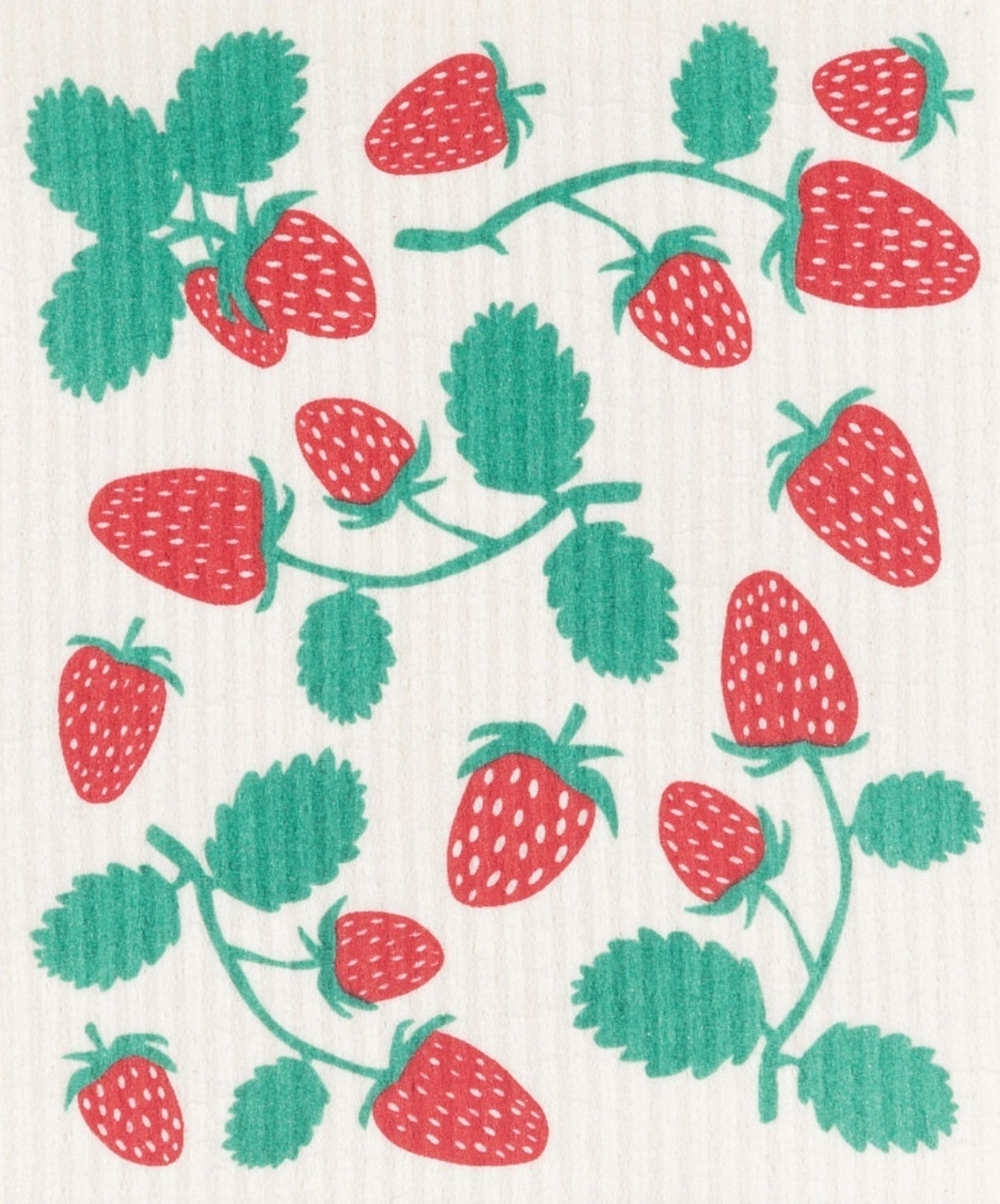 SWEDISH DISH CLOTH - STRAWBERRIES
