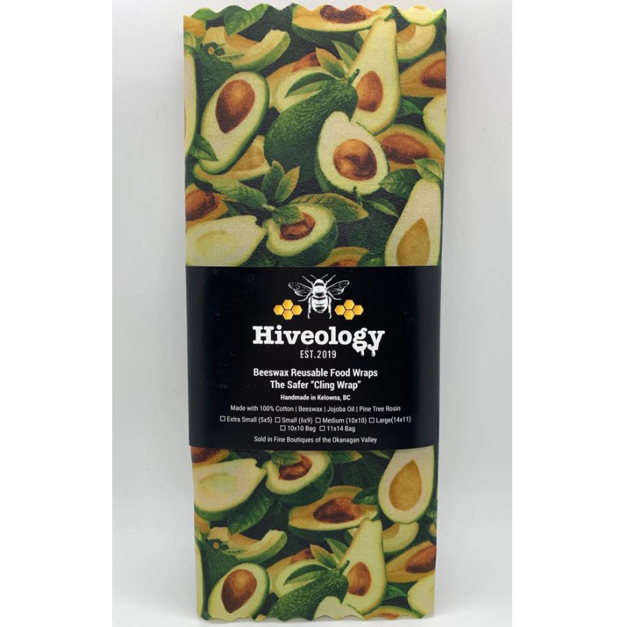 HIVEOLOGY BEESWAX WRAP 2PK MEDIUM