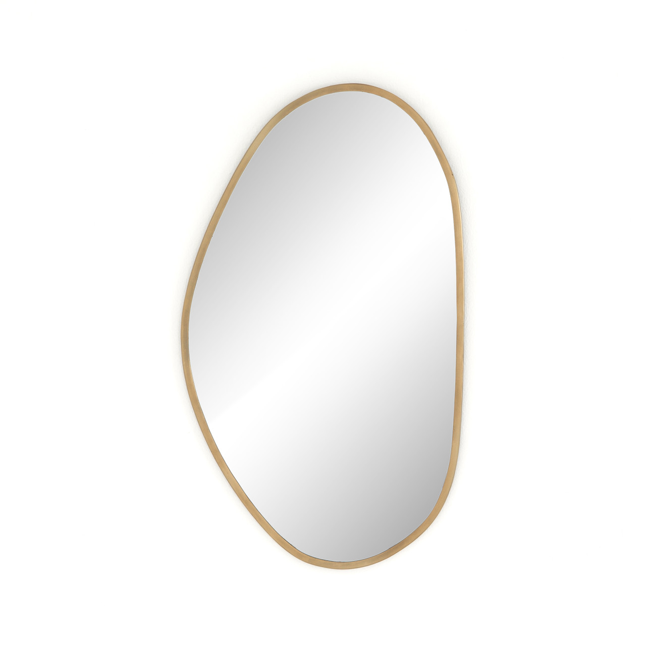 BRINLEY MIRROR - ANTIQUE BRASS