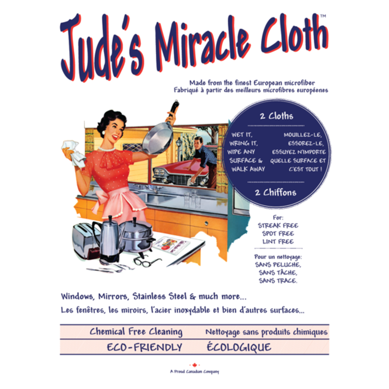 JUDE'S MIRACLE CLOTH - 2 PACK