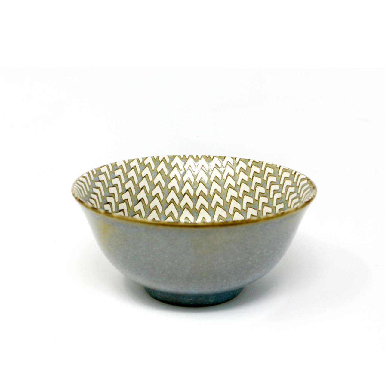 BIA CHEVRON FOOTED BOWL