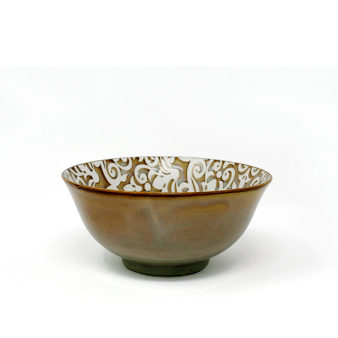 BIA DAMASK FOOTED BOWL