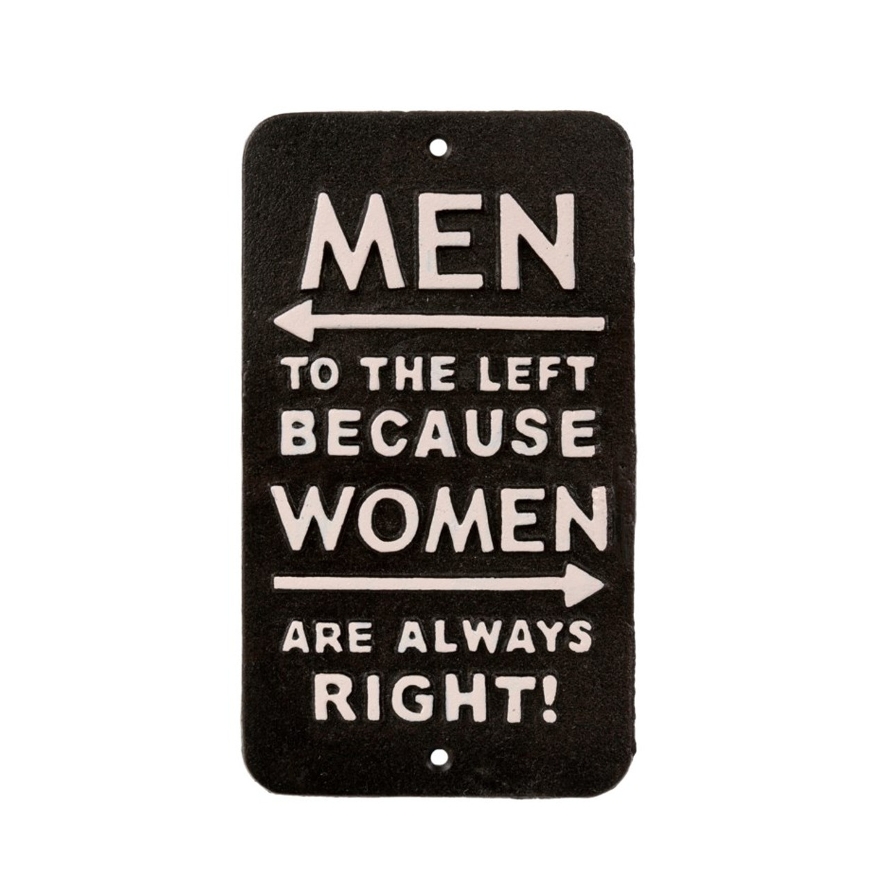 SIGN - WOMEN ARE ALWAYS RIGHT