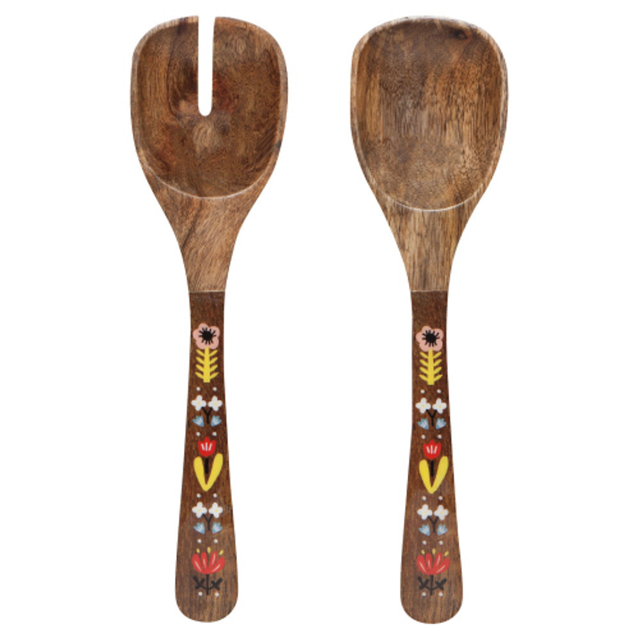 MANGO WOODEN SALAD SERVERS - FRIDA