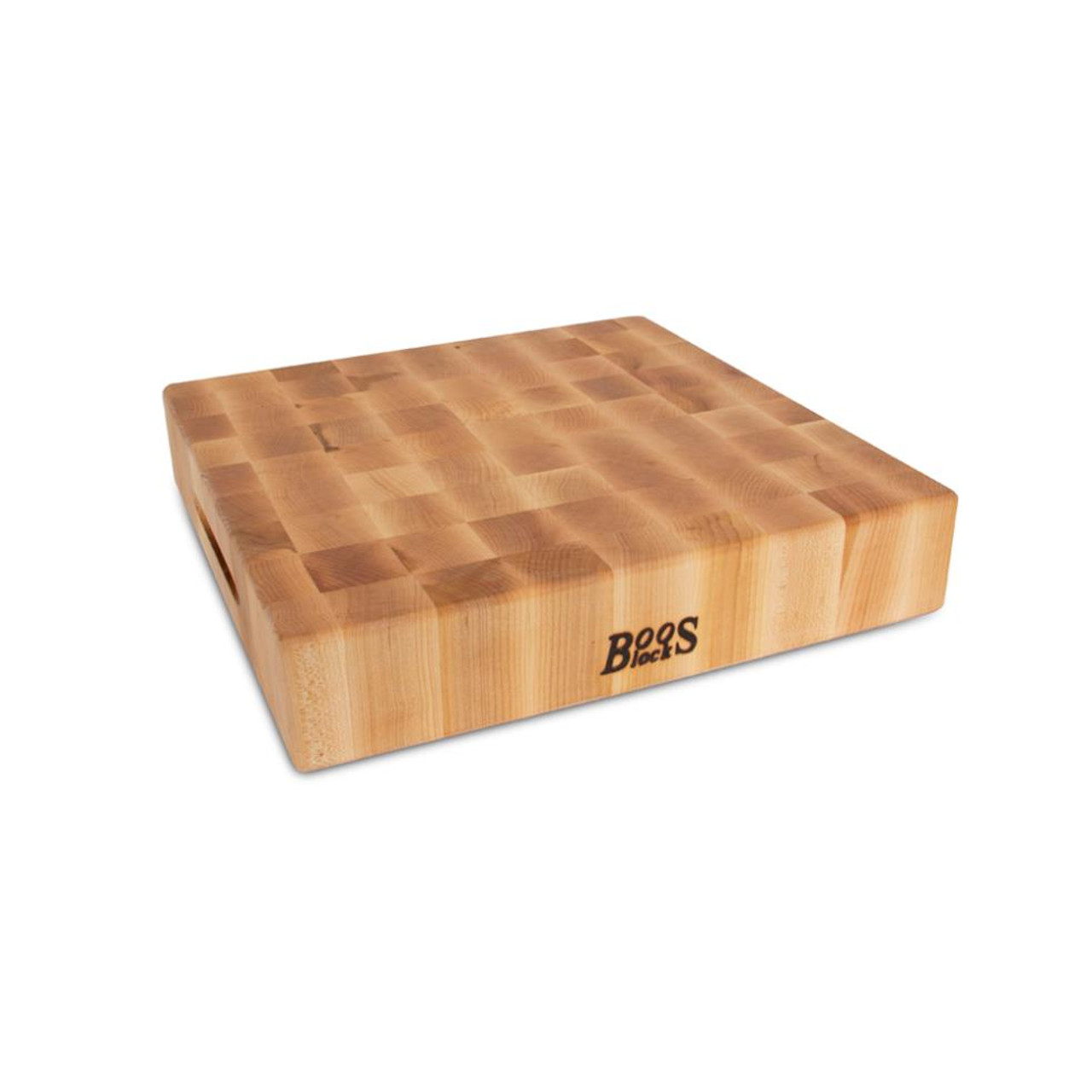 JOHN BOOS MAPLE BOARD END GRAIN w GRIPS - REVERSIBLE 15X15X3