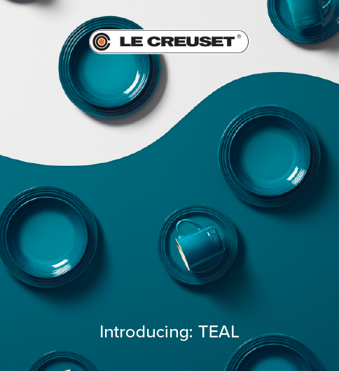 New! Le Creuset Teal
