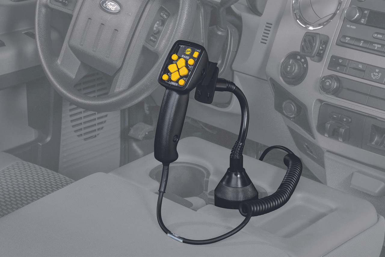 """82006 - FISHER SNOW PLOWS GENUINE ACCESSORY  - FISHER -  WESTERN - SNOWEX  CUP HOLDER CONTROL MOUNT (3"""" MAX EXPANSION)"""