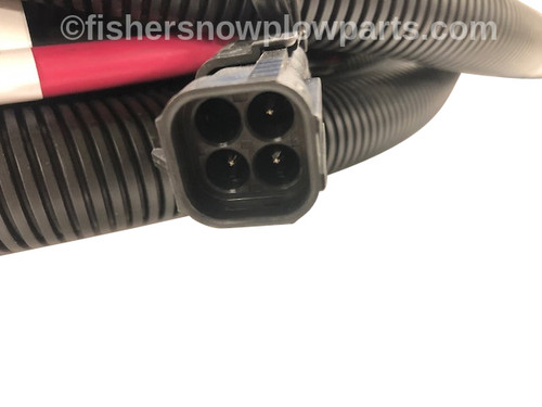 29217 - FISHER POLYCASTER SPREADER GENUINE REPLACEMENT PART - NON FLEEFLEX SYSTEM 4 PIN   VEHICLE CABLE ASSEMBLY