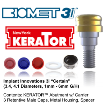 "Kerator IMPLANT INNOVATIONS 3I ""CERTAIN"""