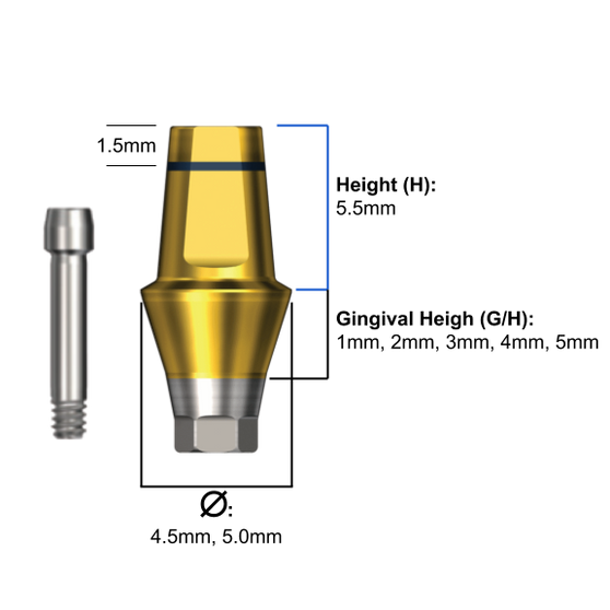 Duo abutment NP