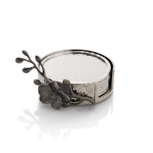 Michael Aram Black Orchid Drinking Coaster Set