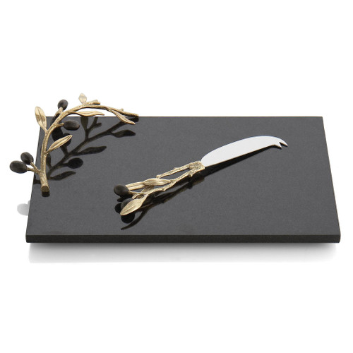 Michael Aram Olive Branch Cheese Board with Knife