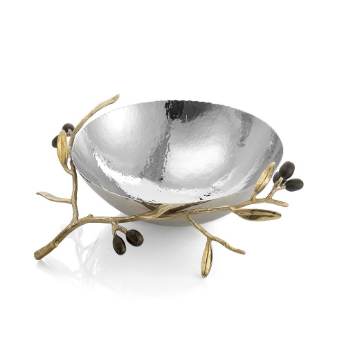 Michael Aram Olive Branch Gold Steel Bowl