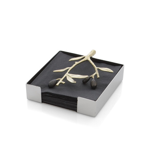 Michael Aram Olive Branch Cocktail Napkin Holder