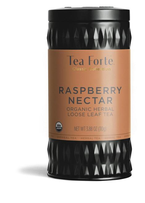Tea Fortē Raspberry Nectar Organic Herbal Loose Leaf Tea Canister
