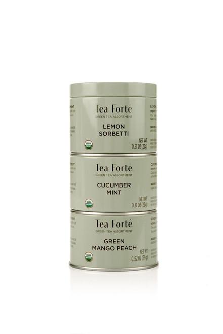 Tea Fortē Green Loose Leaf Tea Trios
