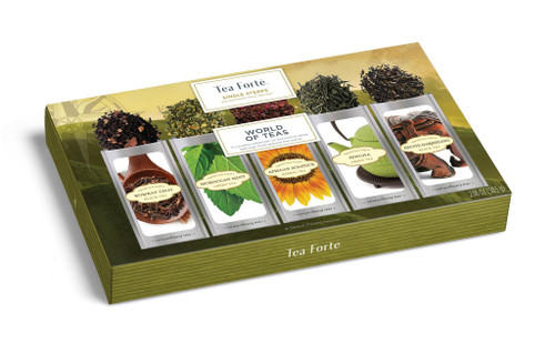 Tea Fortē World of Teas Single Steeps® - 15 Single Steeps Pouches
