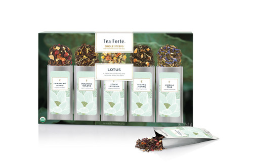 Tea Fortē Lotus Single Steeps® - 15 Single Steeps Pouches