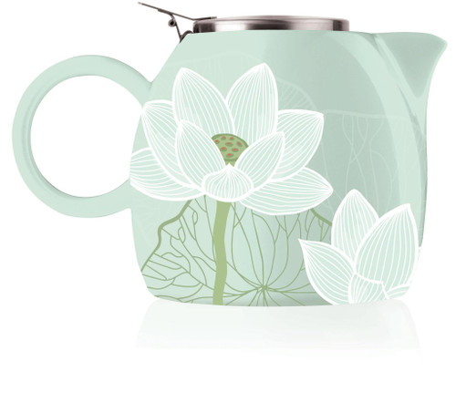 Tea Fortē Lotus PUGG Ceramic Teapot & Infuser - 24 oz.
